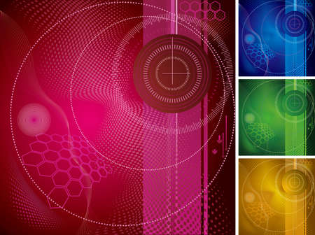 Abstract background design. The image consists of four colors. Illustration
