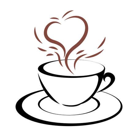 coffee isolated on white background. Standard-Bild - 131437388