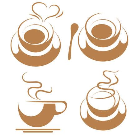 coffee isolated on white background. Standard-Bild - 131437403