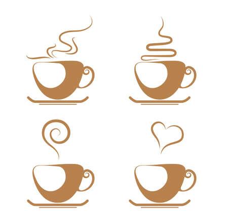 coffee isolated on white background. Standard-Bild - 131437410