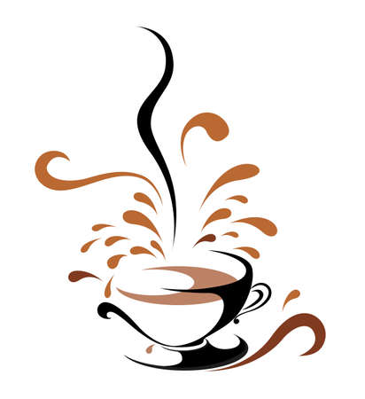 Vector drawn coffee. Isolated on white background. Standard-Bild - 131378749