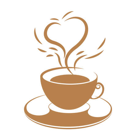 Vector drawn coffee. Isolated on white background.