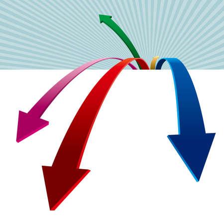 Creative design of the arrow. Colorful arrow design. Standard-Bild - 131437708