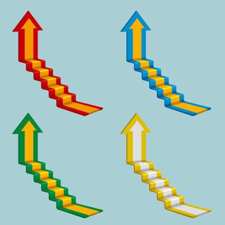 Creative design of the arrow isolated on blue background. Standard-Bild - 131437715