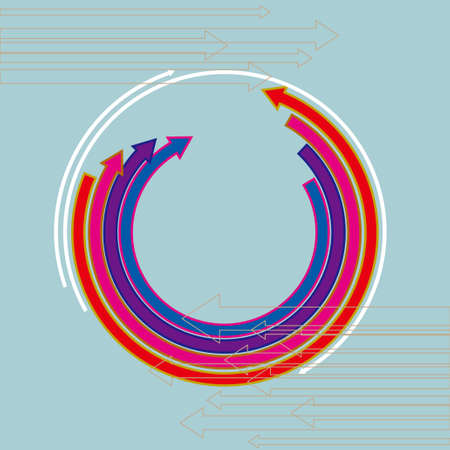 Creative design of the arrow isolated on blue background. Standard-Bild - 131437718