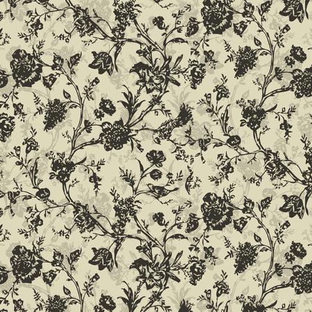 Floral vector grunge pattern