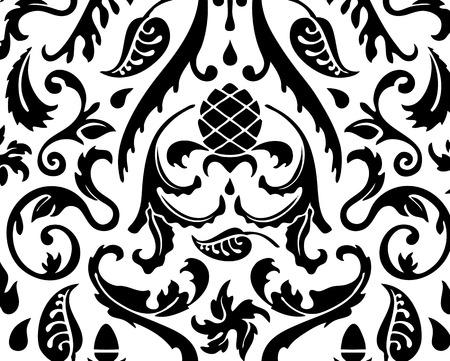 Floral grunge pattern texture seamless background