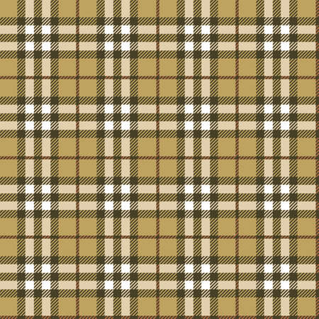 Retro textile Scottish pattern Vector