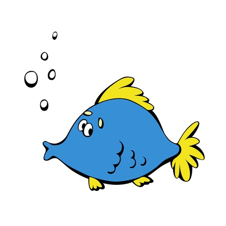 Cute surprised fish isolated on a white background Stock Vector - 12009654