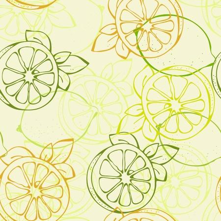 achtergrond van gele en groene citroen limoen Vector Illustratie