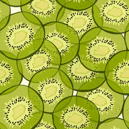 background with hand-drawn green kiwi slices