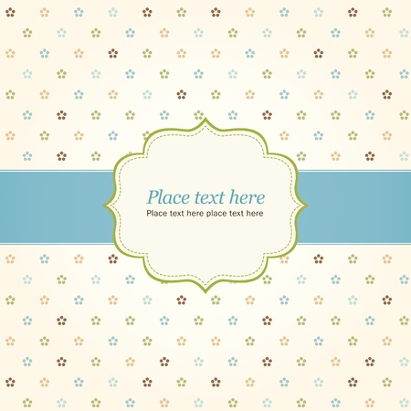 Abstract vintage card with frame with place for text Stock Vector - 12470058