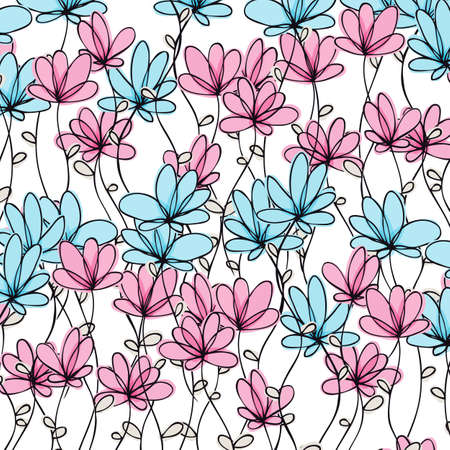 Vector floral background with flowers Stock Vector - 12470080