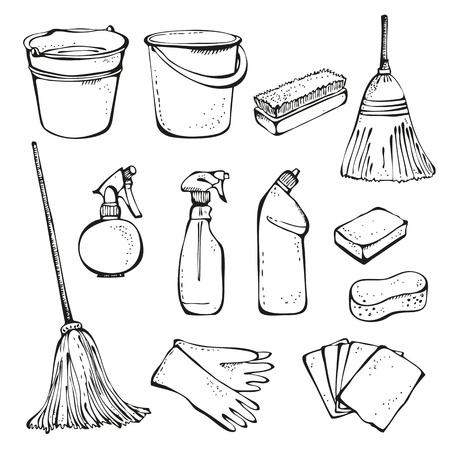 pulverizador: Herramientas para la limpieza Vectores