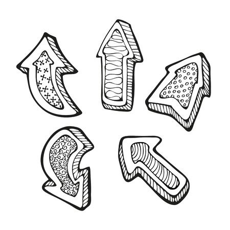 garabatos: Arrows set garabato
