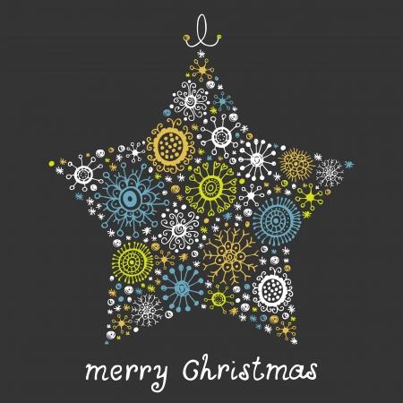 Christmas star illustration design background