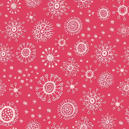 Christmas snowflakes seamless pattern