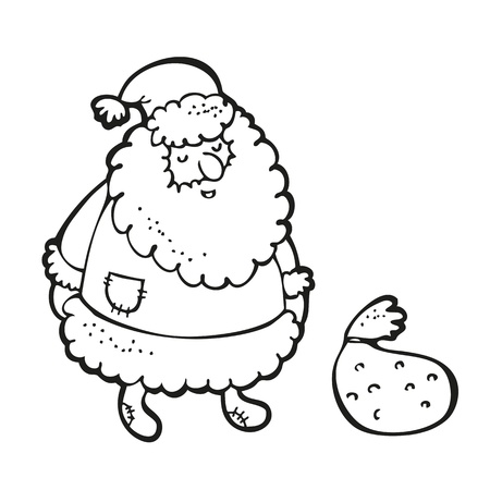 Santa Claus drawing isolated on a white
