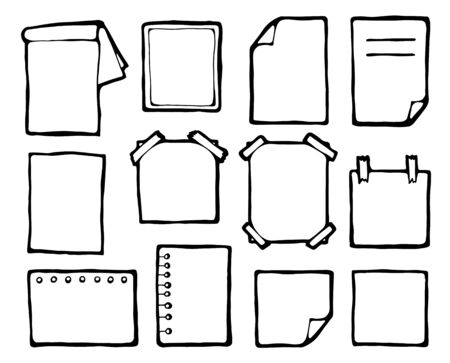 Paper sheets isolated vector illustration Illustration