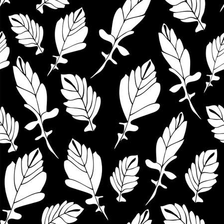 Leaves seamless pattern, hand drawn floral fabric background 版權商用圖片 - 167754551