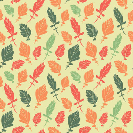 Leaves seamless pattern, hand drawn floral fabric background 版權商用圖片 - 167742804