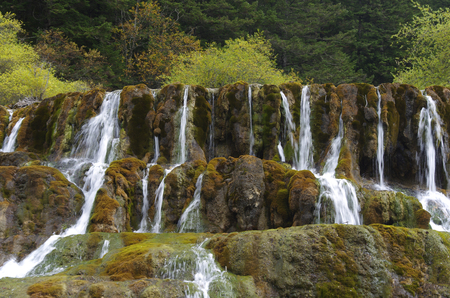 jiuzhaigou waterfall Stock Photo