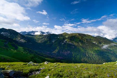 tatra: Slovakia from Czerwone Wierchy  View from Polish side of Tatra Mountains