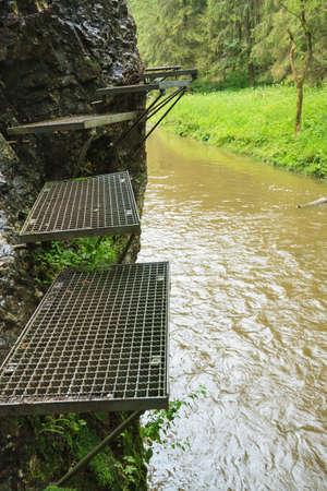 Route above Hornad river in Slovensky Raj Stock Photo - 15178466