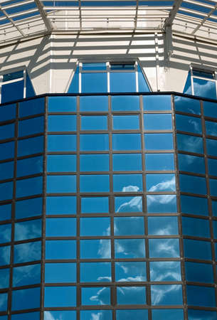 office building with reflected by sky,Hi-tech  architecture Stock Photo - 2119259
