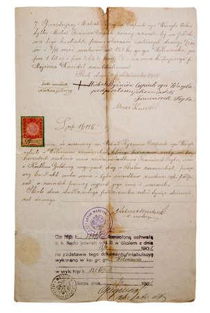 slavonic: aging manuscript on slavonic language,ancient legal document
