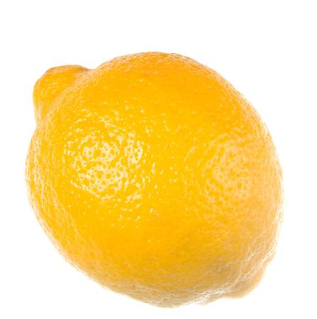 gash: Ecologically pure lemon Object on a white background