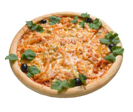 Pizza and italian kitchen. Studio. Isolated on white background. Stock Photo - 2630897