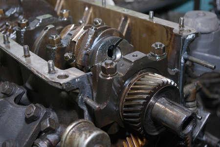 greasing: Conjunto de metal artes del autom�vil en abundante mecanismo engrasado  Foto de archivo