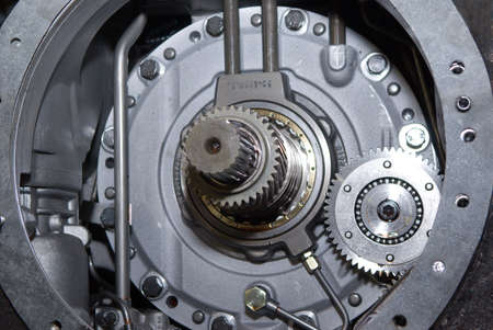 close up view of gears from old mechanism Stock Photo - 2909268