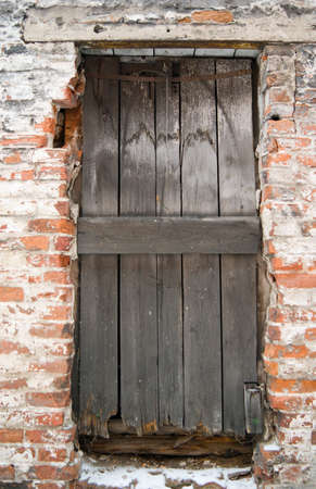 criminality: Window of the old building.abandoned building Stock Photo