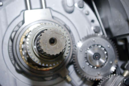 close up view of gears from old mechanism Stock Photo - 2958100