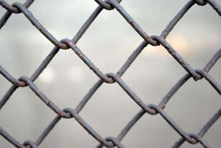 metal grate  on light background.Background from metallic lattice Stock Photo - 3031249