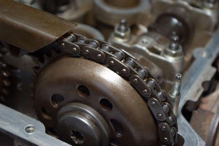 Part of a car engine.close up  old mechanism Stock Photo - 3353358