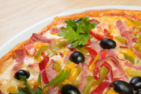 Tasty Italian pizza.Neapolitan,Close-up Stock Photo - 3353377