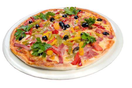 Tasty Italian pizza.Neapolitan,clipping Path