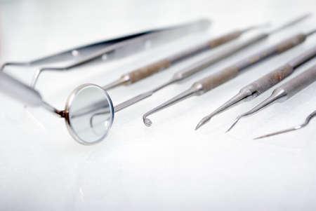 close up dental instruments         .shallow DOF