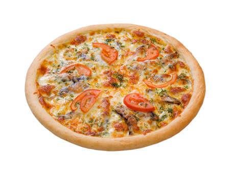 sprats: Pizza and italian kitchen. Studio. ,Close-up.tomatoes,sprats