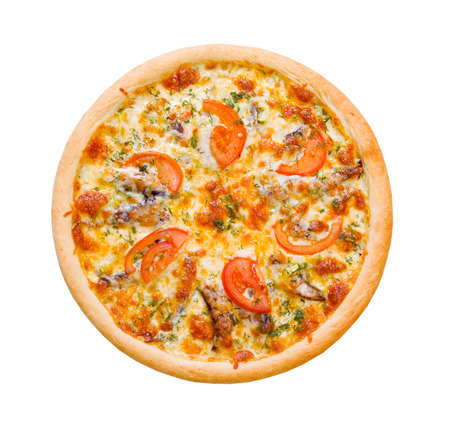 Pizza and Italian kitchen. Studio. ,Close-up sprats isolated on white background. Path