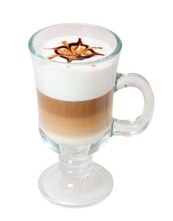 late coffee with chocolate .latte coffee with white chocolate Stock fotó