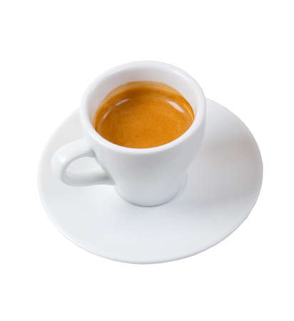 espresso coffee . Cup of coffee on a white background  photo