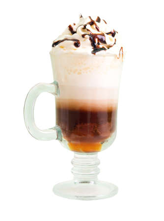 irish coffee  isolated on white background. Stock Photo - 4325251