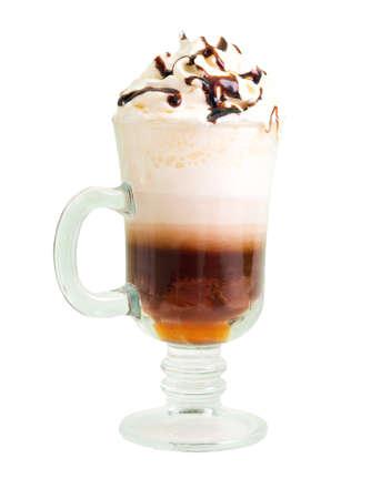 frappe: irish coffee  isolated on white background.