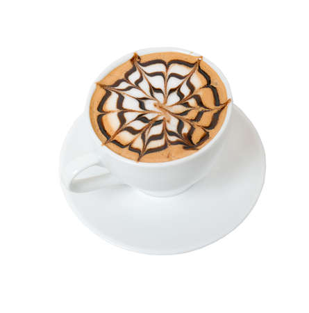 coffee on viennese.Cup of coffee on a white background