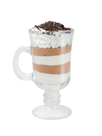 musetti: chocolate Coffee cocktail cup .Isolated on white background.