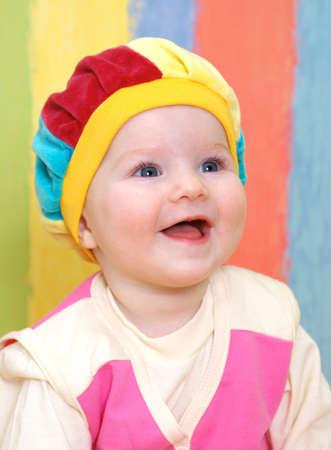 small caucasian girl is dared Stock fotó